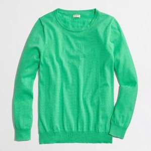 J. Crew Factory Clare Pullover in Spring Green
